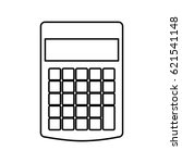 calculator math isolated icon | Shutterstock .eps vector #621541148