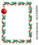 christmas wreath with red... | Shutterstock .eps vector #62154694