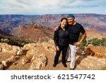 attractive couple enjoying the... | Shutterstock . vector #621547742