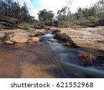 woolshed falls flowing through... | Shutterstock . vector #621552968