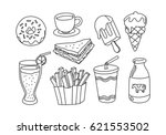 graphic food  vector | Shutterstock .eps vector #621553502