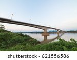 cloud and sky with long bridge. | Shutterstock . vector #621556586