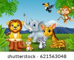 cartoon wild animal in the... | Shutterstock .eps vector #621563048