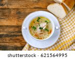 homemade chicken noodle soup  ... | Shutterstock . vector #621564995