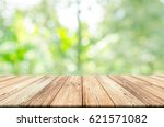 empty wooden table top with... | Shutterstock . vector #621571082