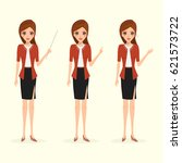 business woman in different... | Shutterstock .eps vector #621573722