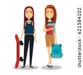 young people style characters | Shutterstock .eps vector #621584102