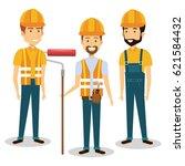 professional construction... | Shutterstock .eps vector #621584432