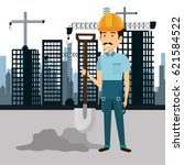 professional construction man... | Shutterstock .eps vector #621584522