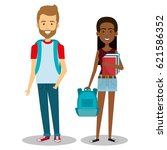 young people style character | Shutterstock .eps vector #621586352
