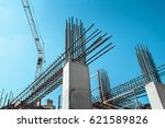 steel frames of a building... | Shutterstock . vector #621589826