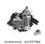 eid mubarak background with...   Shutterstock .eps vector #621597086
