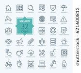 security   outline web icon set ... | Shutterstock .eps vector #621600812