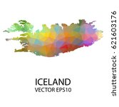 vector color map of iceland ... | Shutterstock .eps vector #621603176