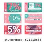 discount voucher certificate ... | Shutterstock .eps vector #621610655