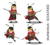 china armor warrior character... | Shutterstock .eps vector #621615302