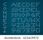 set of font design base on line ... | Shutterstock .eps vector #621619472