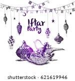 ramadan kareem iftar party... | Shutterstock .eps vector #621619946