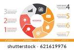 vector circle arrows... | Shutterstock .eps vector #621619976