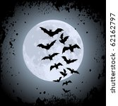 halloween background with moon... | Shutterstock .eps vector #62162797