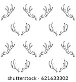 seamless pattern with hand...   Shutterstock .eps vector #621633302