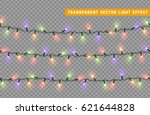 christmas lights isolated... | Shutterstock .eps vector #621644828