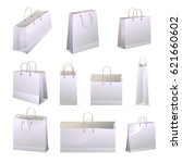 paper shopping bags with... | Shutterstock .eps vector #621660602