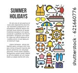 summer holidays information... | Shutterstock .eps vector #621660776