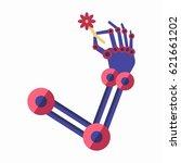artificial intelligence... | Shutterstock .eps vector #621661202