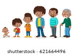 black man in different ages | Shutterstock .eps vector #621664496