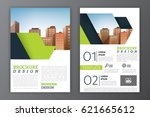 business brochure or flyer... | Shutterstock .eps vector #621665612