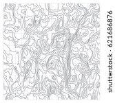 topographic map texture. wavy... | Shutterstock .eps vector #621686876