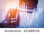 double exposure businessman and ... | Shutterstock . vector #621688136