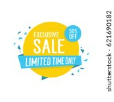 exclusive sale limited time... | Shutterstock .eps vector #621690182
