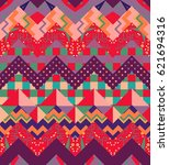 colorful chevron seamless... | Shutterstock .eps vector #621694316