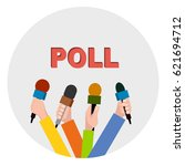 badge opinion poll vector... | Shutterstock .eps vector #621694712