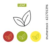 tea leaf. thin line leaf icon.... | Shutterstock .eps vector #621701396