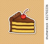 vector illustration. a piece of ... | Shutterstock .eps vector #621702236