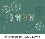 Summertime Vector Card With...