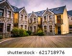luxury hotel facade exterior... | Shutterstock . vector #621718976