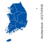 map of south korea | Shutterstock .eps vector #621719318