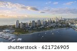 aerial view of surfers paradise ... | Shutterstock . vector #621726905