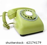retro phone - stock photo