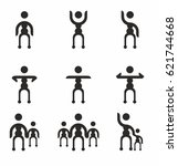 people group vector icon set | Shutterstock .eps vector #621744668