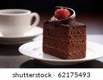 Chocolate Cake On The White...