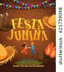 festa junina poster or... | Shutterstock .eps vector #621759098