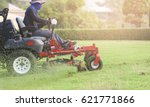 ride on lawnmower. | Shutterstock . vector #621771866