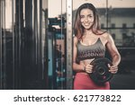 sexy portrait model and a slim... | Shutterstock . vector #621773822
