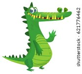 cartoon crocodile. vector... | Shutterstock .eps vector #621776462