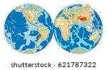 hemisphere of earth. vector...   Shutterstock .eps vector #621787322